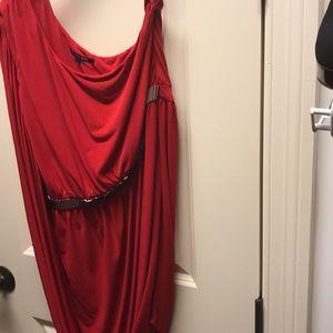 Gianni Bini Red One Shoulder Dress